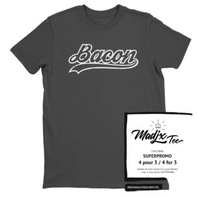 Bacon Baseball T-shirt 5