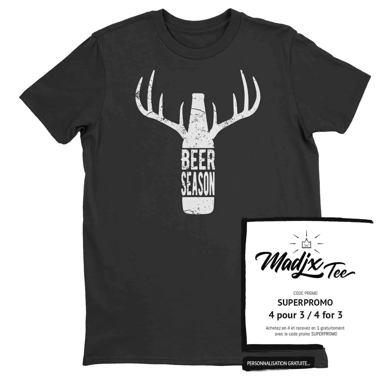 Beer Season Deer Season tshirt Québec