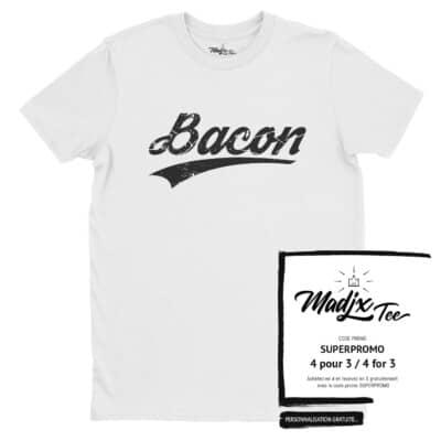 Tshirt de bacon fait au quebec