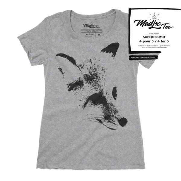 Fox renard sur t-shirt pour femme 1