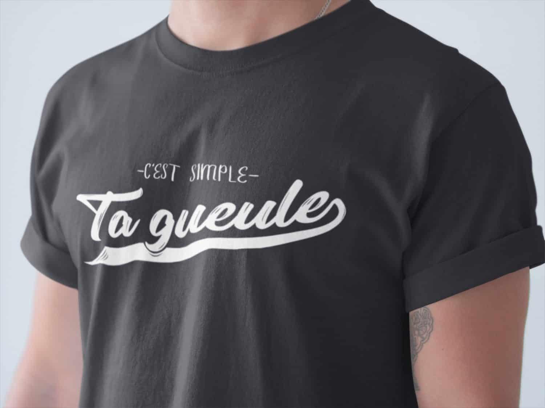 Shirt Simple Gueule C'est Pour Citation Drôle Homme T Ta Québec SIvSqAxw