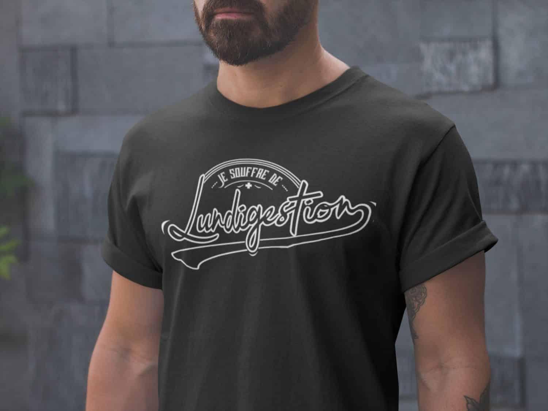T Shirt Je Souffre De Lundigestion T Shirt Pour Homme Citation Drole