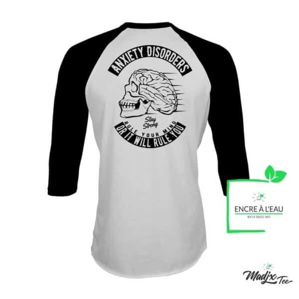 Anxiety Disorder t-shirt, anxiété shirt, Raglan imprimé au dos 1