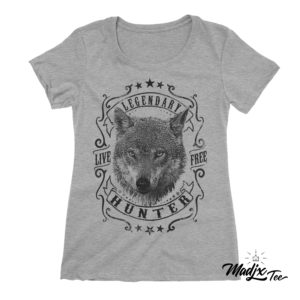 tshirt de loup fait québec