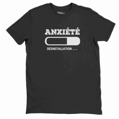 Anxiété désinstallation Anxiety uninstall t-shirt, anxiété shirt