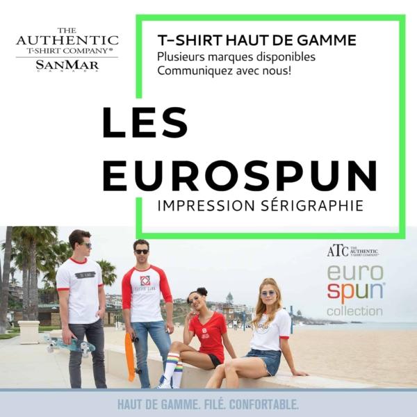 t-shirt haut de gamme eurospun