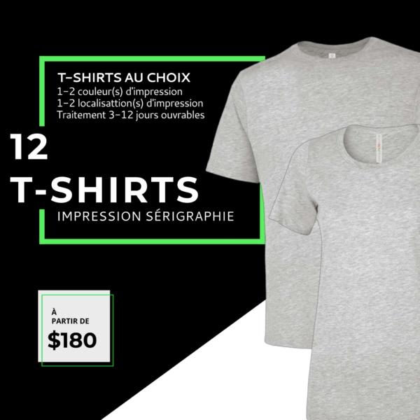 impression t-shirt pour 12-homme-et-femme t-shirts sérigraphie