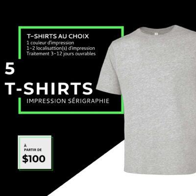 Impression t-shirt personnalisé sérigraphie Québec