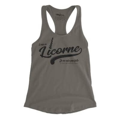 Camisole, Je ne suis une licorne, Drôle de camisole pour femme, fait au Québec, licorne