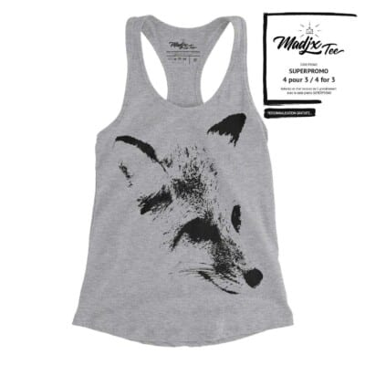 Renard sur camisole, Fox, camisole imprimé au Québec