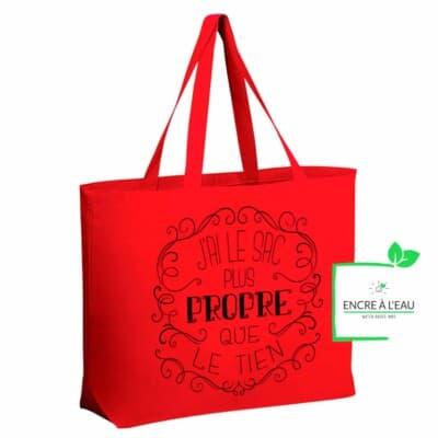 Sac d épicerie Jumbo en canva très résistant, j ai le sac plus propre que le tien, lavable, écologique et durable 5