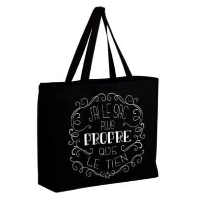 Sac d épicerie Jumbo en canva très résistant, j ai le sac plus propre que le tien, lavable, écologique et durable 4