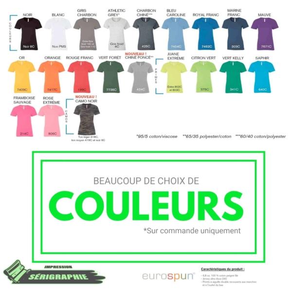 25 T-shirts Sérigraphie pour femme 2