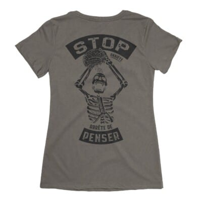 Stop Anxiété arrête de penser t-shirt sur Anxiété | Maladie Mentale 8