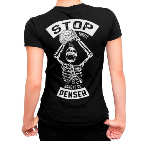 Stop Anxiété arrête de penser t-shirt sur Anxiété | Maladie Mentale 1