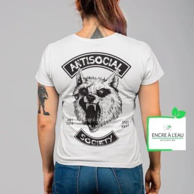 Antisocial Society, Antisocial tshirt   t-shirt pour femme Maladie Mentale 7