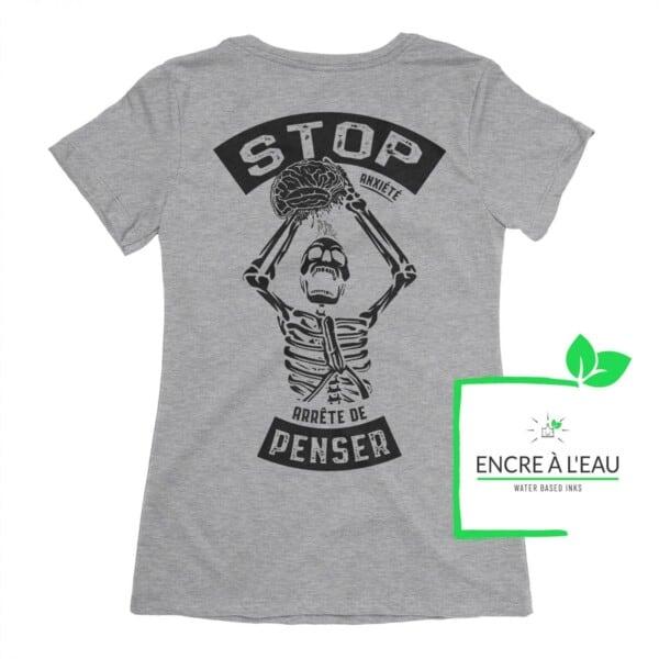 Stop Anxiété arrête de penser t-shirt sur Anxiété | Maladie Mentale 2