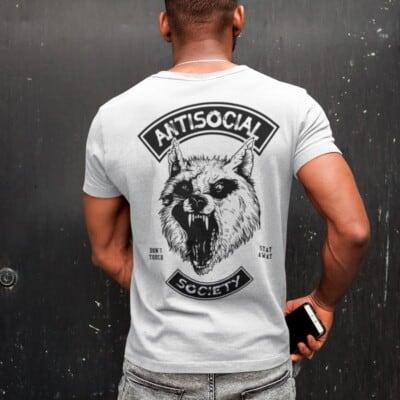 Antisocial Society Antisocial tshirt | Maladie Mentale 12
