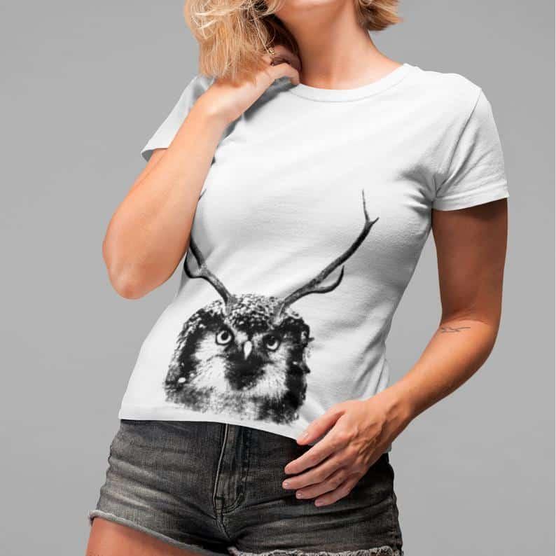 Panache hiboux tshirt drôle pour femme 6