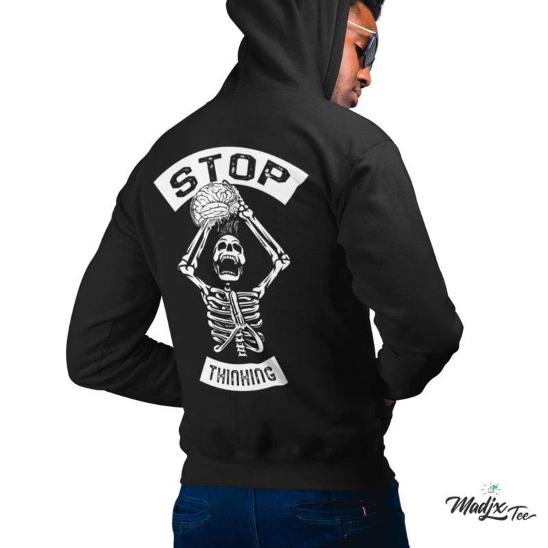Stop Thinking Anxiety Disorder anxiété shirt | Hoodie, anxiété hoodie, coton ouaté capuchon Unisexe 1
