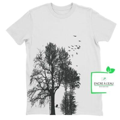 Forest t shirt pour homme impression sérigraphie encre base à l eau éco forêt Québécoise 8