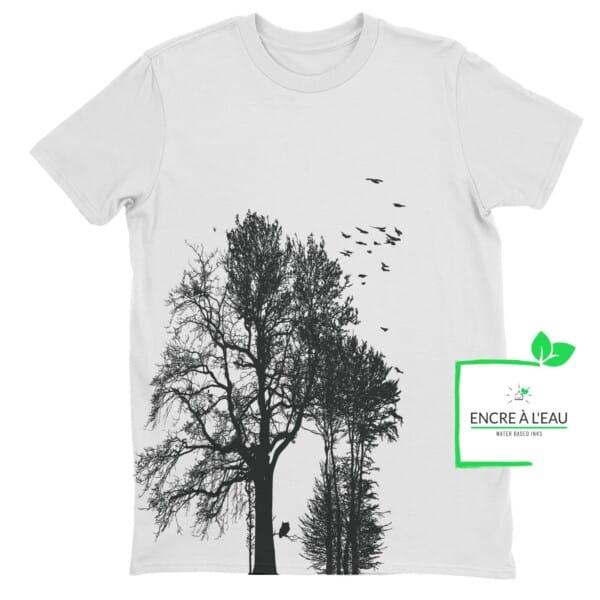 Forest t shirt pour homme impression sérigraphie encre base à l eau éco forêt Québécoise 3