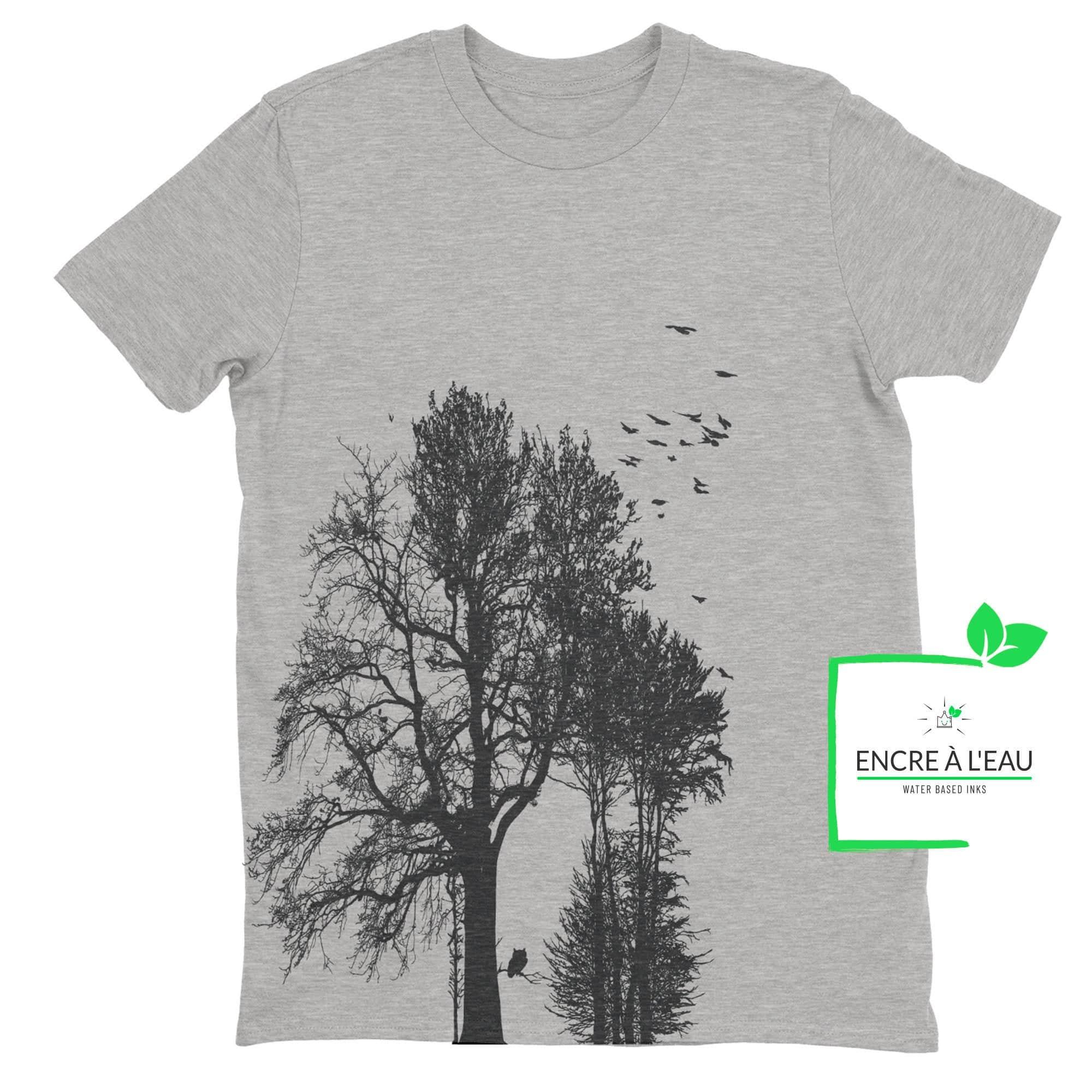 Forest t shirt pour homme impression sérigraphie encre base à l eau éco forêt Québécoise 2