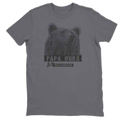 T-shirt Papa ours le plus grognon impression encre à eau fait au Québec 7