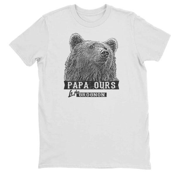 T-shirt Papa ours le plus grognon impression encre à eau fait au Québec 4
