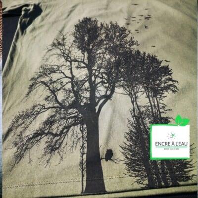 Forest t shirt pour homme impression sérigraphie encre base à l eau éco forêt Québécoise 9