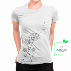 Pissenlit sur t-shirt pour femme