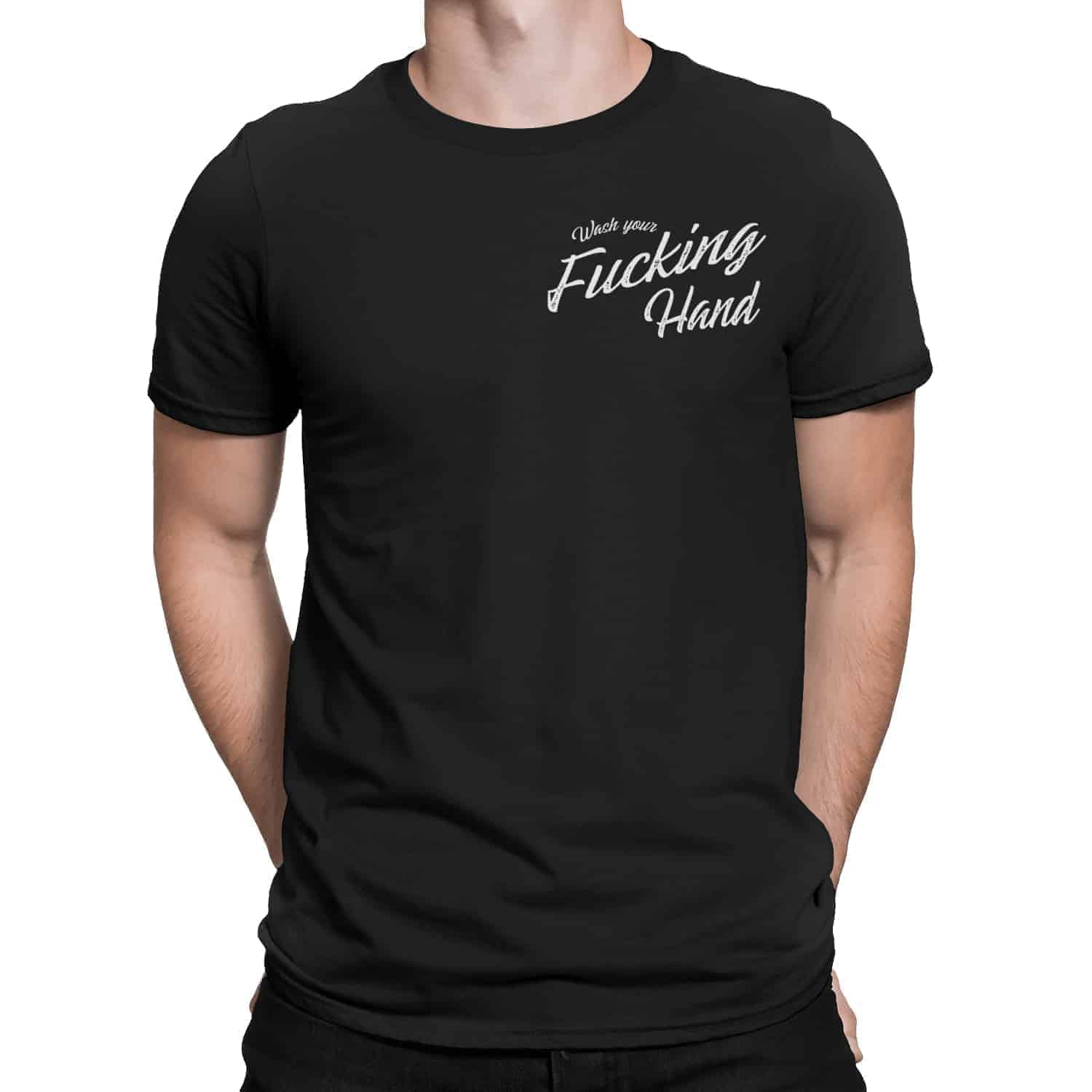 Wash your fucking hand t-shirt pour homme