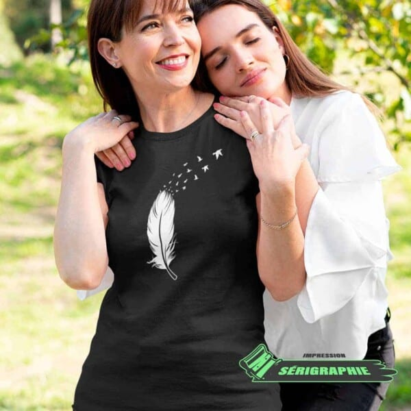 T-shirt de nature Plume et envolé Québécoise