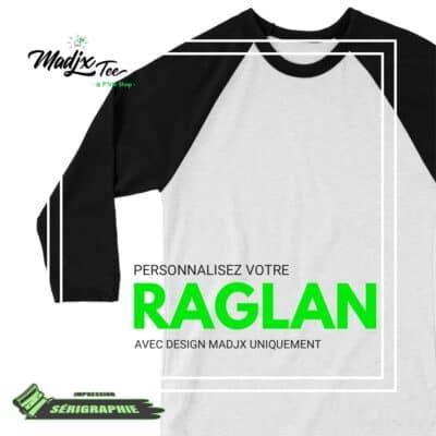 Raglan personnalisé avec design de la P'tite Shop