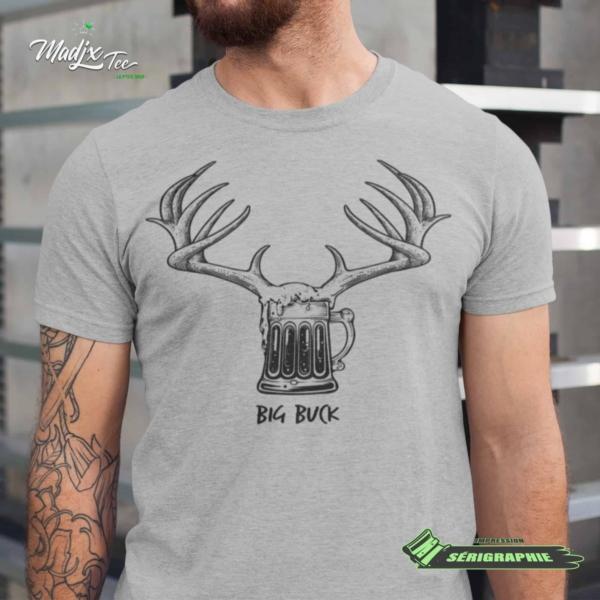 Big Buck impression encre à eau fait au Québec 1