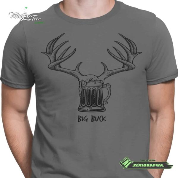 Big Buck impression encre à eau fait au Québec 2