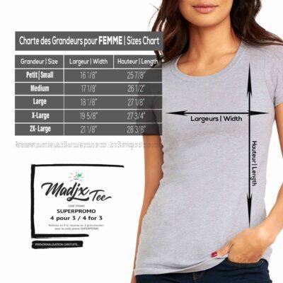Quatre Plumes t-shirt pour femme, impression sérigraphie encre base à l'eau éco, impression fait au Québec 10