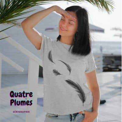 Quatre Plumes t-shirt pour femme